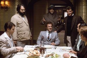"""The Godfather""Al Pacino, director Francis Ford Coppola, James Caan, Abe Vigoda, Gianni Russo, John Cazale, Robert Duvall1972 Paramount** I.V. - Image 5746_0072"
