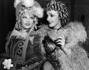 Mae West, Marlene Dietrich (in costume for DESTRY RIDES AGAIN, Universal, 1939), on set of MY LITTLE CHICKADEE, Universal, 1940, **I.V. - Image 5750_0007