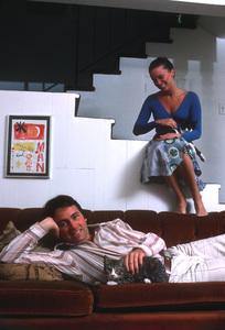 John Ritterwith his wife Nancy at homeSeptember 1977 © 1978 Gene Trindl - Image 5756_0005