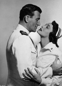 """Operation Pacific,"" Warner Bros. 1950.John Wayne and Patricia Neal. - Image 5760_0005"