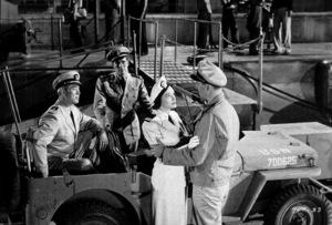 """""""Operation Pacific,"""" Warner Bros. 1950.Ward Bond, Patricia Neal, and John Wayne. - Image 5760_0007"""