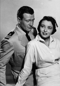 """Operation Pacific,"" Warner Bros. 1950.John Wayne and Patricia Neal. - Image 5760_0031"