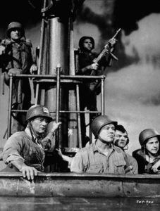 """Operation Pacific,"" Warner Bros. 1950.John Wayne, Bob Nash, and Eric Hoeq. - Image 5760_0036"