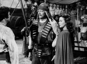 """The Conqueror,"" Howard Hughes/RKO 1955.John Wayne and Susan Hayward.Photo by Alexander Kahle. - Image 5761_0001"