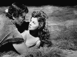 """""""The Conqueror,"""" Howard Hughes/RKO 1955.John Wayne and Susan Hayward.Photo by Alexander Kahle. - Image 5761_0005"""