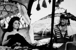 """The Conqueror,"" Howard Hughes/RKO 1955.Susan Hayward and John Wayne. - Image 5761_0011"