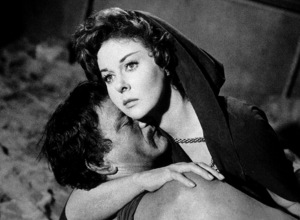 """The Conqueror,"" Howard Hughes/RKO 1955.John Wayne and Susan Hayward.Photo by Alexander Kahle. - Image 5761_0015"
