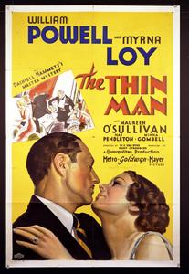 """""""The Thin Man""""Poster1934 MGM**I.V. - Image 5771_0007"""