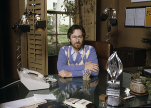 Steven Spielberg in his office on the MGM lot1982© 1982 Bruce McBroom - Image 5817_0051