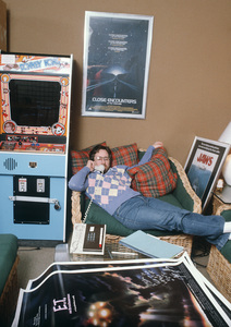 Steven Spielberg in his officeon the MGM lot. © 1982 Bruce Mcbroom - Image 5817_0052