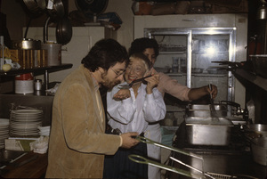 Steven Spielberg with his mother Leah at her kosher restaurant on Pico Blvd. in Los Angeles1982© 1982 Bruce McBroom - Image 5817_0059