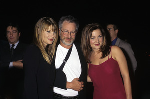 Steven Spielberg with Kate Capshaw and Jessica Capshawcirca 1990s© 1990 Gary Lewis - Image 5817_0093