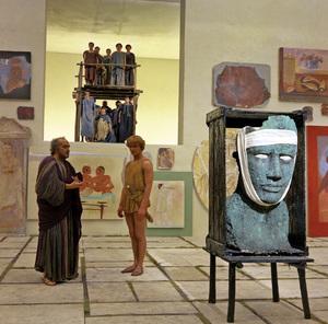 """Satyricon""Martin Potter in a Roman gallery1969** I.V.C. - Image 5833_0074"