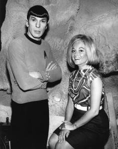 "Leonard Nimoy on the ""Star Trek"" set with his wife Sandicirca 1960sPhoto by Joe Shere - Image 5846_0030"