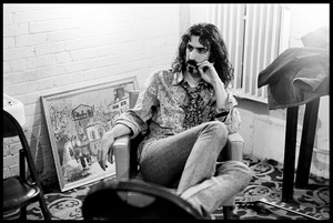 Frank Zappa of The Mothers of Invention prior to a performance in Fall River, Massachusetts 18 February 1968© 2020 Ed Lefkowicz - Image 5872_0054