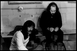 Jimmy Carl Black and Ray Collins of The Mothers of Invention prior to a performance in Fall River, Massachusetts 18 February 1968© 2020 Ed Lefkowicz - Image 5872_0056