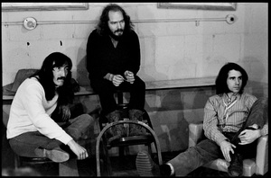Jimmy Carl Black, Ray Collins and Ian Underwood of The Mothers of Invention prior to a performance in Fall River, Massachusetts 18 February 1968© 2020 Ed Lefkowicz - Image 5872_0057