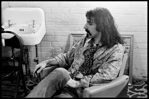 Frank Zappa of The Mothers of Invention prior to a performance in Fall River, Massachusetts 18 February 1968© 2020 Ed Lefkowicz - Image 5872_0058