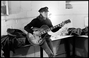 """Jim """"Motorhead"""" Sherwood of The Mothers of Invention prior to a performance in Fall River, Massachusetts 18 February 1968© 2020 Ed Lefkowicz - Image 5872_0060"""
