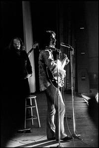 Frank Zappa and The Mothers of Invention in performance at the Durfee Theater in Fall River, Massachusetts (behind Zappa is Ray Collins)18 February 1968 © 2020 Ed Lefkowicz - Image 5872_0070