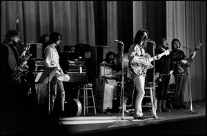 """Frank Zappa and The Mothers of Invention in performance at the Durfee Theater in Fall River, Massachusetts (from left to right: John Leon """"Bunk"""" Gardner, Ian Underwood, Jimmy Carl Black, Frank Zappa, Ray Collins, Roy Estrada)18 February 1968 © 2020 Ed Lefkowicz - Image 5872_0071"""