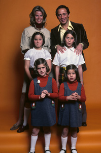 Paul Anka with his wife Anne DeZogheb and their daughters, Alicia, Amanda, Anthea and Alexandra1977** H.L. - Image 5894_0049
