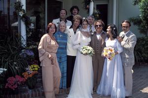 Lynda Carter and wedding party1977 © 1978 Gene Trindl - Image 5896_0041
