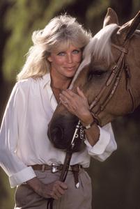 Linda Evans with her horse1984 © 1984 Mario Casilli - Image 5922_0056
