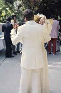 Farrah Fawcett with husband Lee Majors on their wedding day July 28, 1973 © 1978 Bruce McBroom - Image 5928_0041