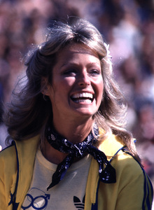 Farrah Fawcettat a celebrity charity tennis match1979 © 1979 Gunther / MPTV - Image 5928_0053