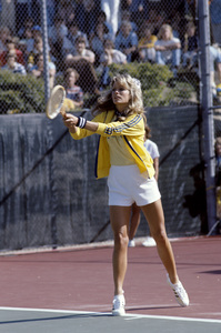 Farrah Fawcett playing tennis1979© 1979 Gunther - Image 5928_0056