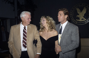 Farrah Fawcett, her father James and Ryan O