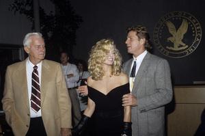 Farrah Fawcett, her father James and Ryan O