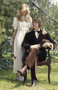 Farrah Fawcett with husband Lee Majors posing for their engagement photocirca 1973 © 1978 Bruce McBroom - Image 5928_0233