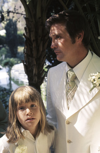 Lee Majors with son Lee Majors II on his wedding day to Farrah FawcettJuly 28, 1973 © 1978 Bruce McBroom - Image 5928_0237