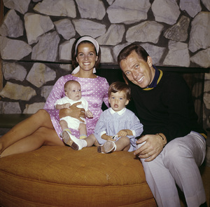 Andy Williams with wife Claudine Longet and childrencirca 1965© 1978 Bernie Abramson - Image 5940_0030