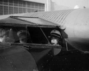 Howard Hughes as a co-pilot on American Airways, mid 1940