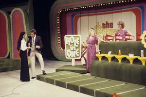 """The Price Is Right""Bob Barker, Janice Pennington, Holly Hallstrom1982Photo by Gabi Rona - Image 5949_0007"