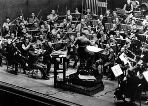 "Walt Disney with Composer Leopold Stowkowski""Fantasia""RKO 1940**I.V. - Image 5975_0059"