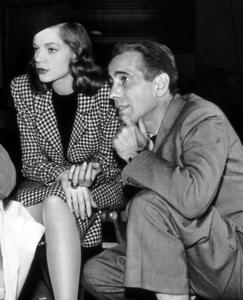 """The Big Sleep""Lauren Bacall and Humphrey Bogart behind the scenes1946 Warner Bros.MPTV - Image 5982_0005_"