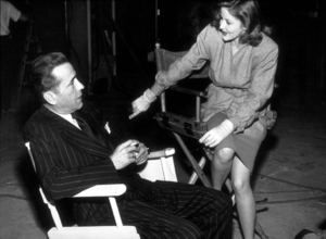 """""""The Big Sleep""""Humphrey Bogart and Martha Vickers behind the scenes 1946 Warner Bros.MPTV - Image 5982_0007"""