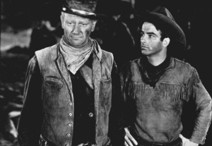 """""""Red River,"""" United Artists 1948.John Wayne and Montgomery Clift. - Image 6004_0003"""