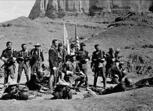 """Fort Apache""Henry Fonda, John Wayne, Victor McGlaglen, Ward Bond, and Guy Kibbe. © 1948 RKO - Image 6005_0008"