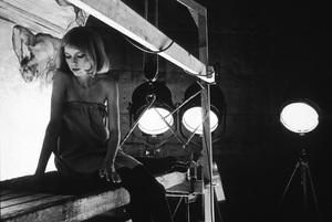Mia FarrowOn the Paramount studio