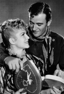 """""""Stagecoach,"""" United Artists 1939.Claire Trevor and John Wayne.Photo by Ned Scott  - Image 6015_0001"""