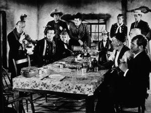 """Stagecoach""Donald Meek, John Wayne, Andy Devine, Claire Trevor, George Bancroft, Louise Platt, Thomas Mitchell, Barton Churchill, and John Carradine. © 1939 United Artists /Photo by Ned Scott - Image 6015_0116"
