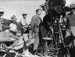 """""""Stagecoach"""" John Ford Directing,1930 © 1978 Ned Scott Archive - Image 6015_0208"""