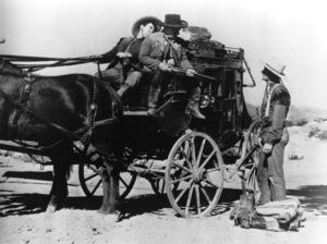 """Stagecoach"" Andy Devine, John Wayne 1939 United Artists © 1978 Ned Scott Archive - Image 6015_0234"