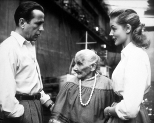 """Key Largo""Humphrey Bogart, Phillipa Gomez, and Lauren Bacall1948 Warner Bros.Photo by Mac JulianMPTV - Image 6037_0008"