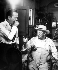 """Key Largo""Humphrey Bogart and Lionel Barrymore1948 Warner Bros.Photo by Mac JulianMPTV - Image 6037_0015"